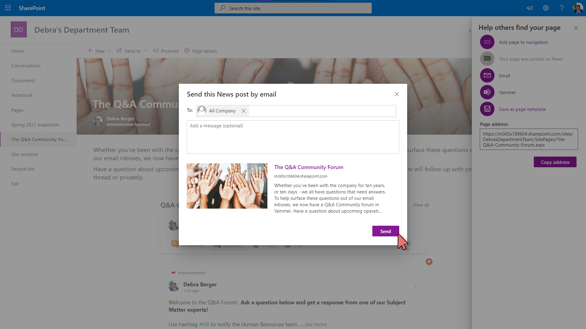 Yammer - Embed in SharePoint – 10