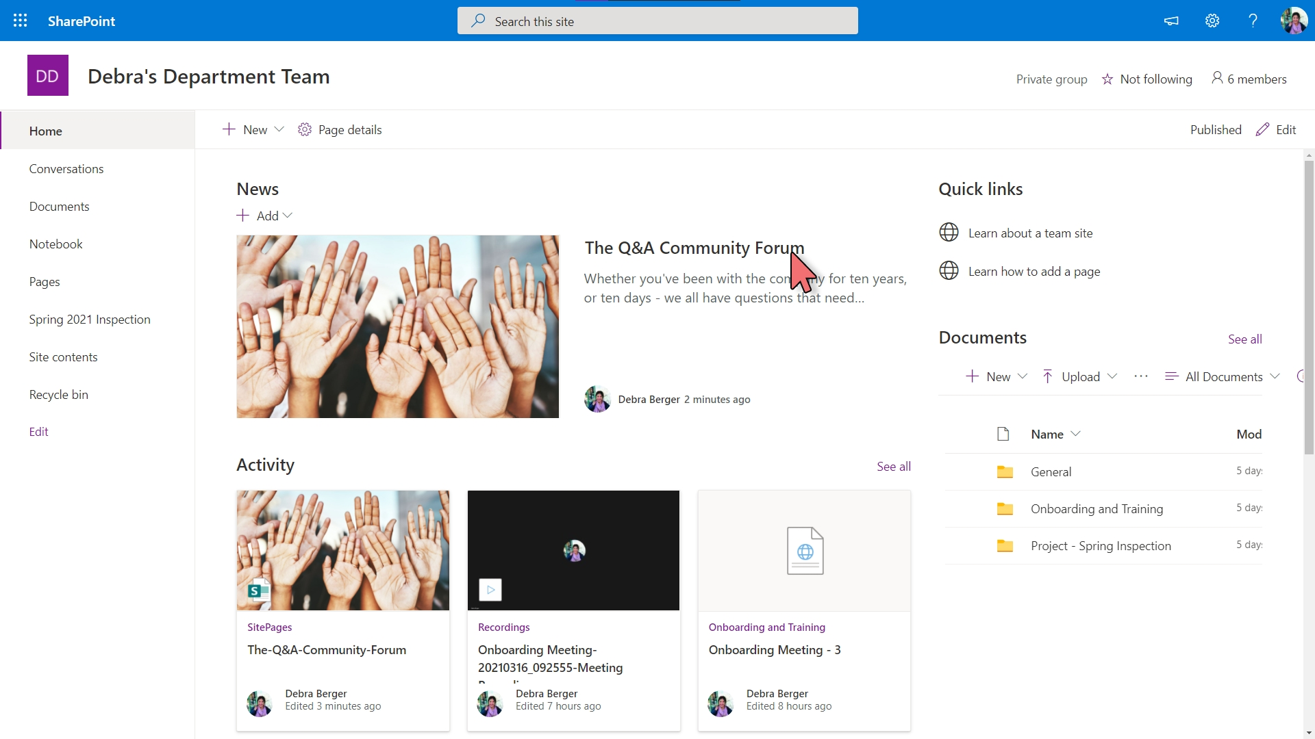 Yammer - Embed in SharePoint – 11