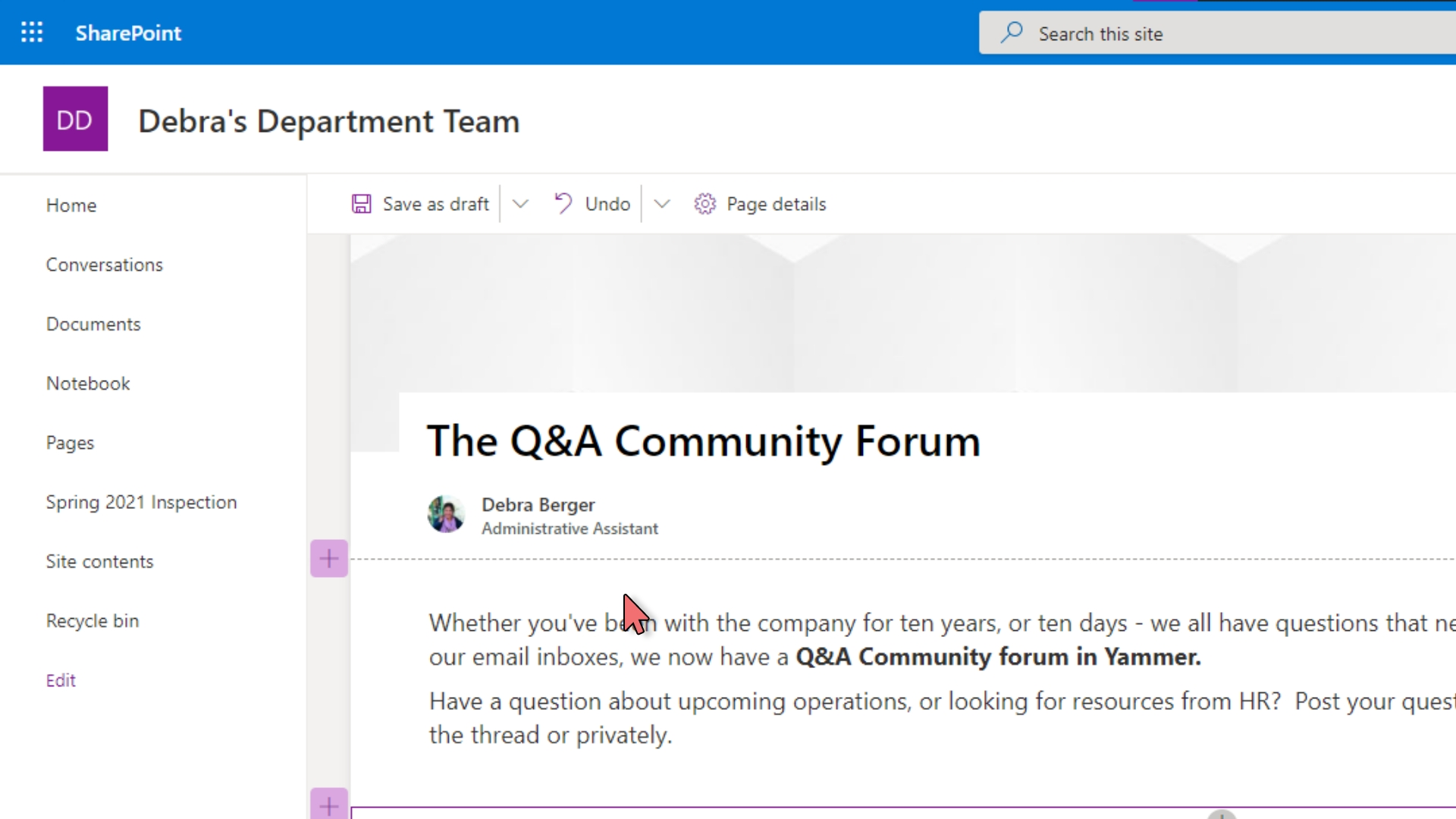 Yammer - Embed in SharePoint – 12