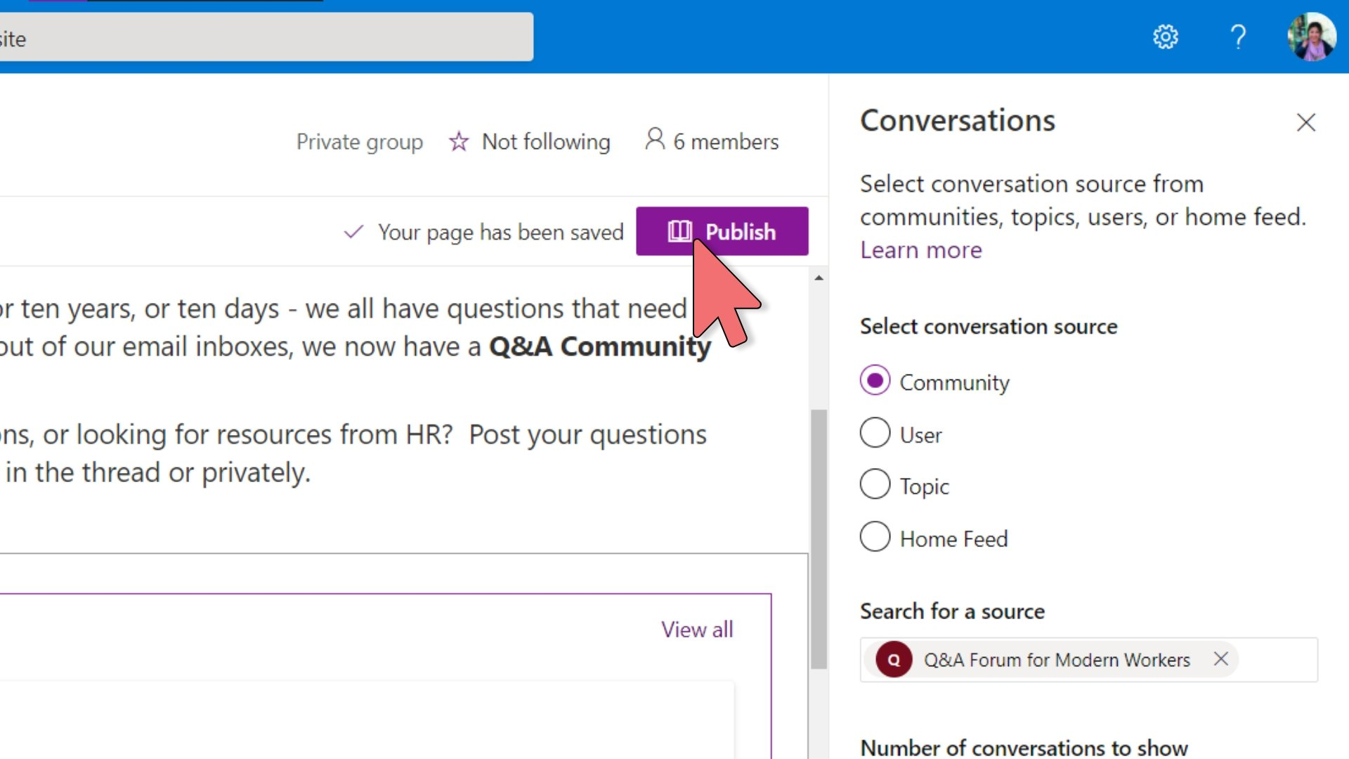Yammer - Embed in SharePoint – 14
