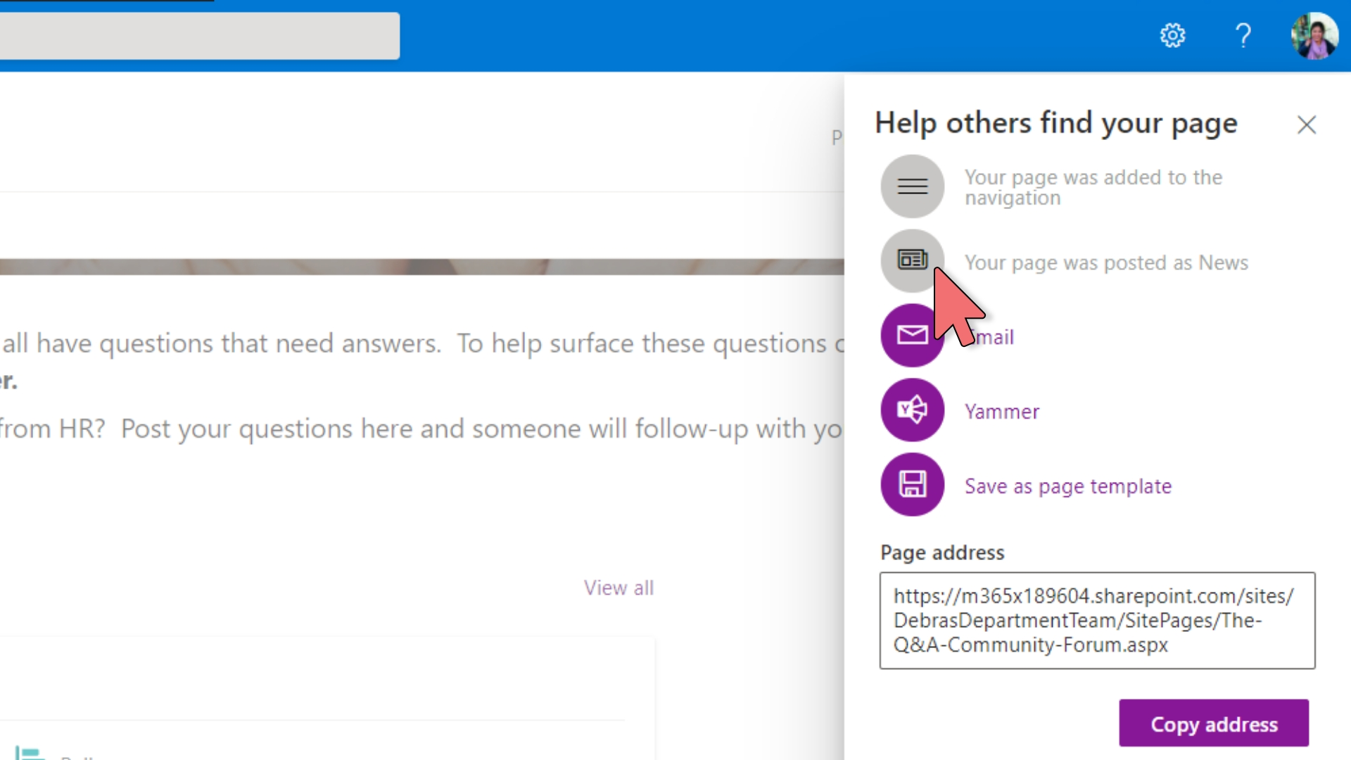 Yammer - Embed in SharePoint – 8
