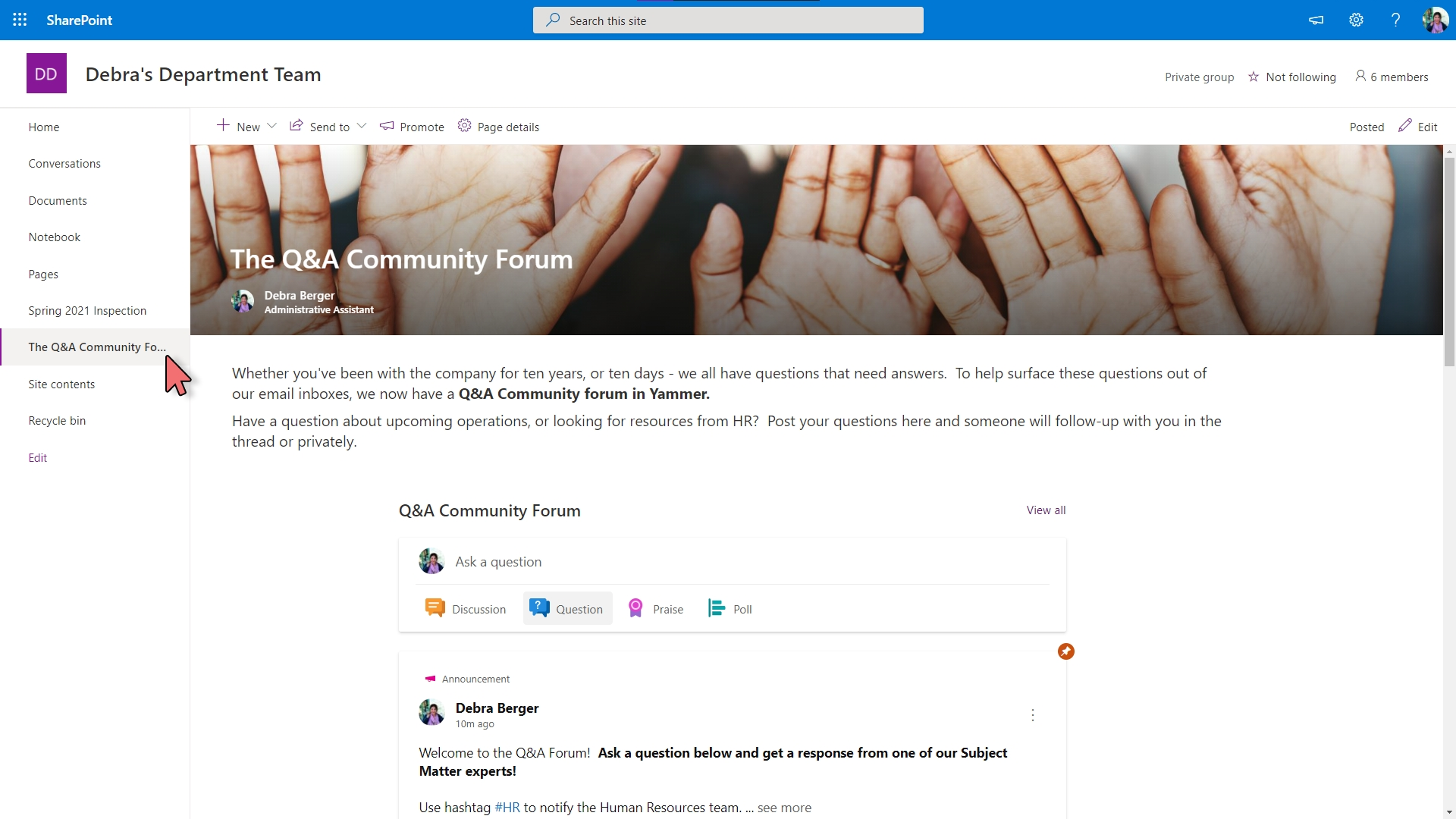 Yammer - Embed in SharePoint – 9-1