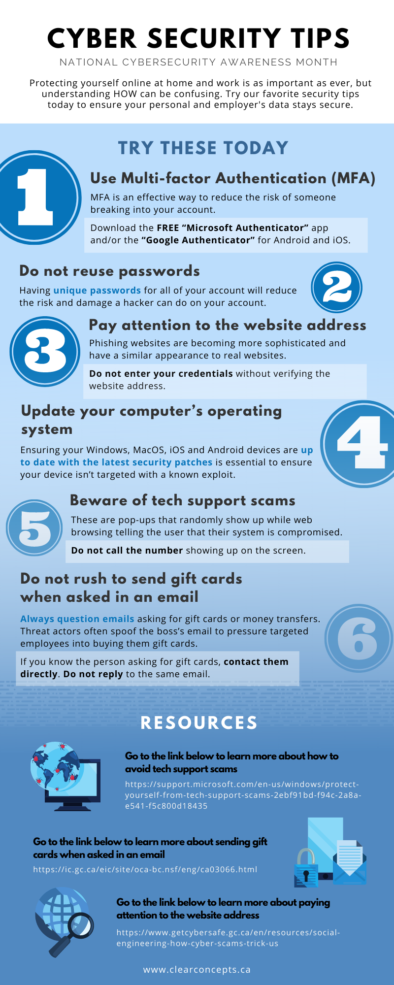 Infographic - Cybersecurity Tips