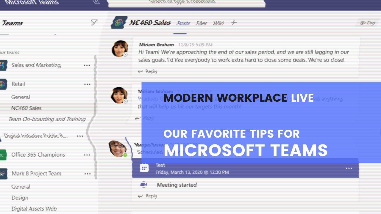 Modern Workplace Live - Our Favorite Tips for Microsoft Teams